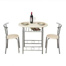 Hot 3 Pcs Dining Set Table 2 Chairs Home Kitchen Breakfast Furniture Natural