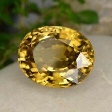 6.30Ct. Natural Untreated Oval AAA Cambodian Loose Light Yellow Zircon