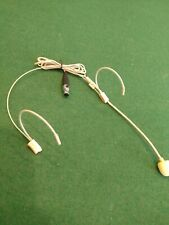Beige Double Earhook Headset Microphone for Shure Wireless