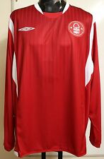 NOTTINGHAM FOREST 2009/10 L/S HOME SHIRT BY UMBRO SIZE XXL BRAND NEW WITH TAGS