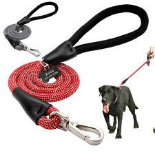 4ft Reflective Dog Nylon Leash Strong Braided Pet Dog Walking Rope Training Lead