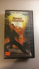 Sworn to Justice VHS starring Cynthia Rothrock, used, in decent shape.