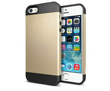 Shell Style SLIM ARMOR CASE COVER for iPhone 4S / 5S / 5C / 6 / 6S / SE + Film