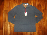 NWT Mens HUDSON RIVER Midnight Blue 1/4 Zip Pullover Long Sleeve Shirt M Medium