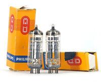 2x E182CC/7119 PHILIPS SQ NOS MATCHED Tube Lampe TSF Valve 진공관 真空管 Röhre
