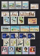 Falkland Islands - 8 mint commemorative sets, cat. $ 33.00