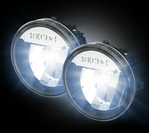 2009-2014 Ford F-150 Direct Fit CREE LED Clear Lower Fog Lights Lamps Pair