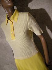 CHIC VINTAGE  ROBE JERSEY 1960 VTG DRESS 60s MOD SCOOTER KLEID 60er (36/38)