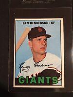 1967 Topps Ken Henderson San Francisco Giants Card #383