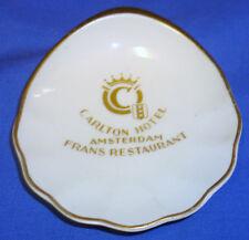 P REGOUT MAASTRICHT Porcelain Ashtray Carlton Hotel Amsterdam Frans Restaurant