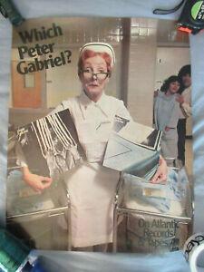 Vtg 1978 70s Peter Gabriel Record Store Promo Display Poster Atlantic 24x19