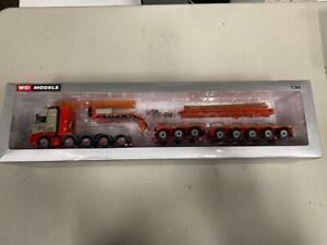 "WSI 01-2210 ""Zwagerman"" Volvo 10x4 Tractor & Nootboom Trailer 1:50 New In Box"