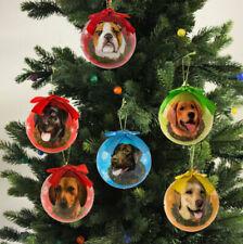 "Love My Dog / Cat Christmas Ball Tree Ornaments - 3"" Nib - 35 Breeds Available"