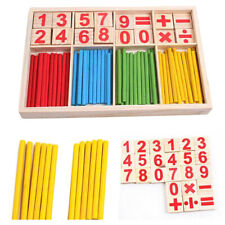 1Set wooden toys mathematical intelligence stick preschool educational toys CP