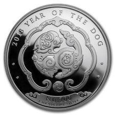 Kingdom of Bhutan 200 Ngultrum Lunar Dog 2018 1 oz .999 Silver Coin