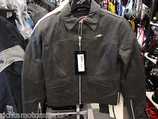 NEW ALPINESTARS 4W NEW YORK WOMEN'S LEATHER JACKET - Black - Size 42
