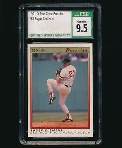 1991 O-Pee-Chee Premier #23 Roger Clemens CSG 9.5 Gem Mint
