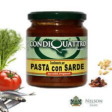Condimento per pasta con Sarde, specialità artigianale siciliana - Condiquattro