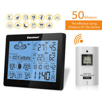 Wireless Weather Station Precision Forecast Temperature Humidity Timer Alarm EU