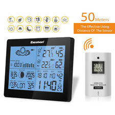 Wireless Weather Station Precision Forecast Temperature Humidity Timer Alarm EU