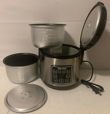 Aroma 8 Cup Rice Cooker ARC914SBD With Extra Inner Lid & Steamer Pot