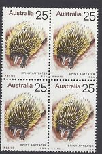 Australia 1974 Spiny Anteater 25c Block of 4 Stamp set