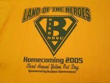 VINTAGE,NDSU,BISON,T-SHIRT,MED,HOMECOMING 2005,3rd YELLOW OUT DAYS, ALUMNI HEROS