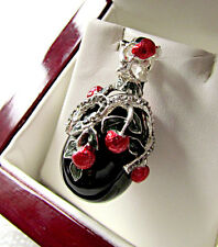 FABULOUS RUSSIAN EGG PENDANT made of STERLING SILVER 925  w/ GENUINE ONYX