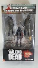"McFarlane Toys AMC Walking Dead 5"" Bloody Michonne Zombie Pets action figure NEW"