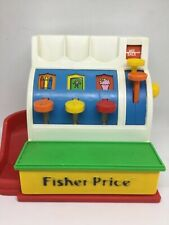 Fisher Price Toy Cash Register with 4  Coins, Vintage 1994