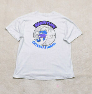 Vintage 90s Screen Stars Adventure International Single Stitch T Shirt Size XL