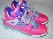 2013 Nike Retro 4 Pink Foil/White/Cement Grey/Purple Youth Shoes! Size 6Y