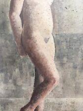 Très Belle Peinture Nu Femme Cubiste 60 Huile Panneau Carton Hsp  À Identifier