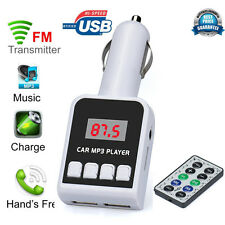 MP3 Player Wireless FM Transmitter Modulator Car Kit USB SD MMC LCD Remote