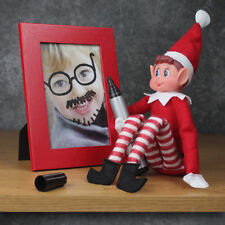 Elfos personalizado en los estantes Elf certificado de adopción y Muñeca buena mala Navidad