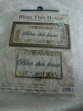 """Counted Cross Stitch Kit """"Bless This House"""" Sealed in Package complete kit"""
