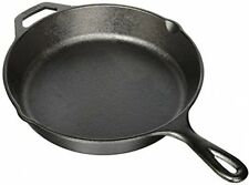 "Lodge Seasoned Cast Iron Kitchen Skillet 10.25"" Frying Pan Cooking Deep Black"