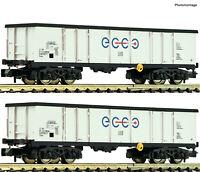 """Fleischmann N 841014 Wagen-Set der Axbenet / Ecco Rail """"Neuheit 2020""""  NEU + OVP"""