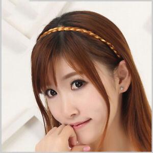Band Plaited Plait Elastic Headband Hairband