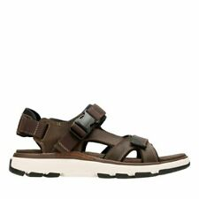 0baf1e2ad522 NEW MENS CLARKS UN TREK BAR BROWN LEATHER STRAP BUCKLE COMFORTABLE SANDALS  32629