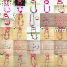 Wholesale 50pcs Cute Children Kid Wood Bead Necklace Bracelet Jewelry 25 x Sets