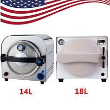 Usa Dental Lab Medical Autoclave Steam Sterilizer Sterilization Machine 14l18l