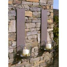 WMG Sousse Wand Kerzenhalter braun Teelicht Wandkerzenhalter Wandleuchter 55cm