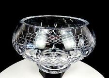 """GALWAY SIGNED IRISH CRYSTAL LONGFORD FOOTED 6 1/8"""" BOWL 1985-2006 ORIG STICKER"""