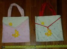 LOT OF 2 Care Bears VINTAGE 80's Mini Bag Tote Purse FUNSHINE American Greetings