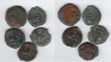 Judea Lot with 5 different coins different rulers AE Prutah stampsdealer