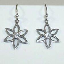 Silpada Sterling Silver Daisy CZ French Hook Earrings W1383 Cubic Matching Neckl