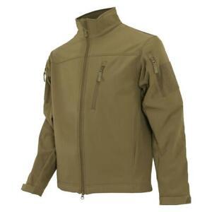Large Men's Condor Phantom Soft Shell Jacket L Tactical Lightweight Coyote Brown