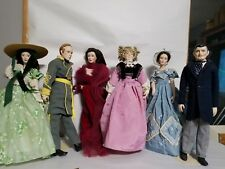 Lot Of 6 Franklin Heirloom Gone with the Wind Dolls