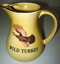 VINTAGE WILD TURKEY  WHISKEY PITCHER FINE STAFFORDSHIRE POTTERY MADE IN ENGLAND